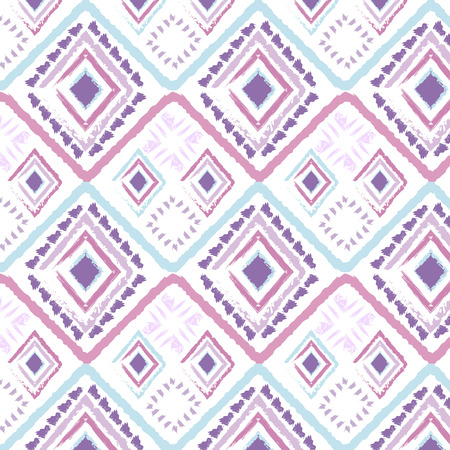 pastel color: Hand drawn style tribal pastel color seamless pattern. Ethnic motif. Designed for use in the textile, wallpaper and wrapping paper. swatches included.