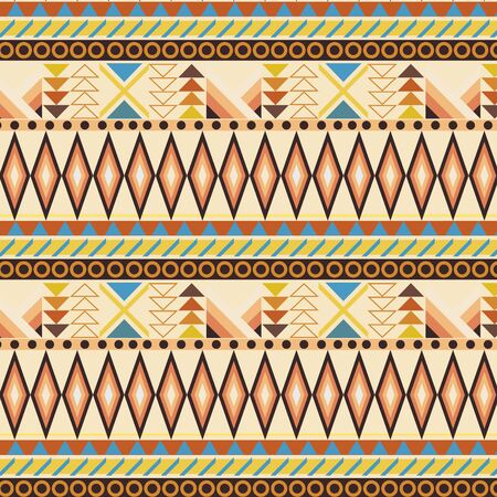 stripe pattern: Tribal ethnic seamless stripe pattern. swatches included.