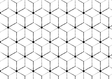 rough: Geometric rough seamless pattern. Monochrome modern stylish texture. swatches included. Illustration