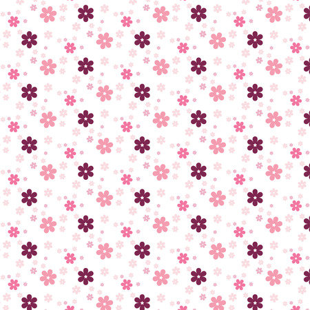 colorfulness: Simple pink flower pattern colorfulness cute. Floral seamless background for the design of you. Illustration