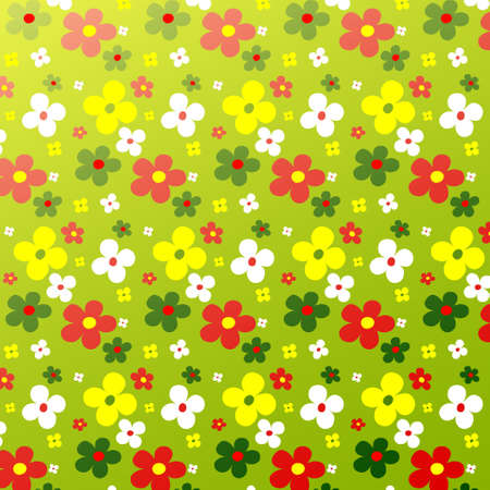 colorfulness: Simple flower pattern colorfulness cute. Floral seamless background for the design of you.