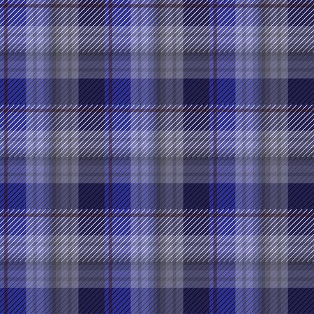 Blue tartan plaid backgroun in vector seamless pattern. Pattern swatches included in file. Vettoriali