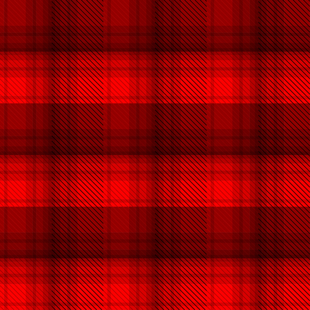 hunter man: Black and red tartan plaid background in vector seamless pattern. Pattern swatches included in file.