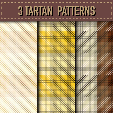 tartan plaid: Set of three Tartan Plaid samples in vector seamless pattern. Pattern swatches included in file.