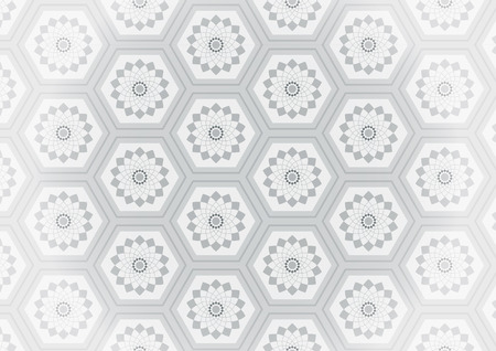gray flower: Geometric gray flower seamless pattern. Endless texture. Pattern swatches included in file.