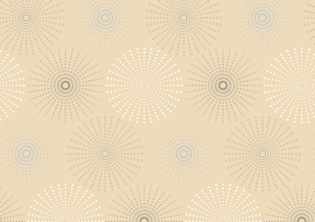 dotted line: Dotted line spherical geometric seamless pattern. Endless texture. Pattern swatches included in file.