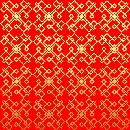 Chinese vector naadloos patroon. Endless textuur kan worden gebruikt voor behang, patroonvullingen, webpagina achtergrond, oppervlaktestructuren.