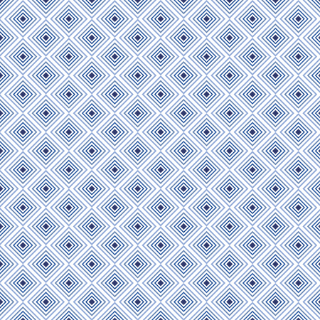 Indigo square background in vector seamless pattern. Pattern swatches included in file.