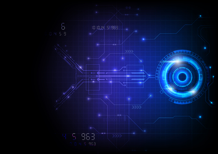 Blaulicht-Futuristische Spielschaltungstechnologie Vektorgrafik