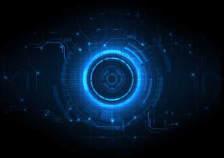 Fondo de tecnología de circuito de juego futurista azul claro