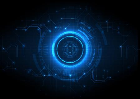 Jasnoniebieski futurystyczny obwód gry w tle technologii
