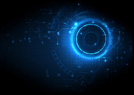 Technologie numérique de circuit abstrait bleu profond