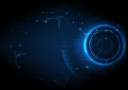Fondo de tecnología de circuito de juego futurista azul oscuro