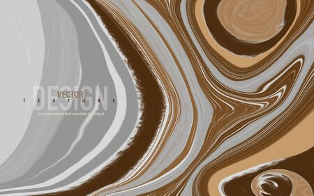 Abstract mixed gray, brown and white colors. Marbled surface, acrylic paints waves and swirls texture.  Trendy background for design cover, flyer, placard, posters, cards, invitations, websites, wallpapers.