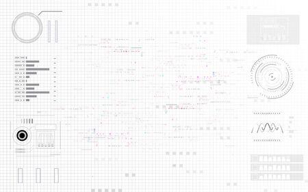 Abstract background digital structure elements technology communication network design, Abstract futuristic energy science system. Vektoros illusztráció