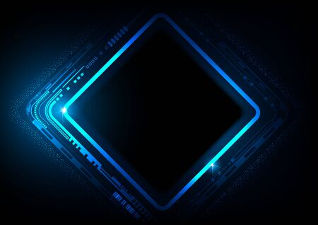 Digital technology futuristic abstract blue background, Business growth to successful technology.