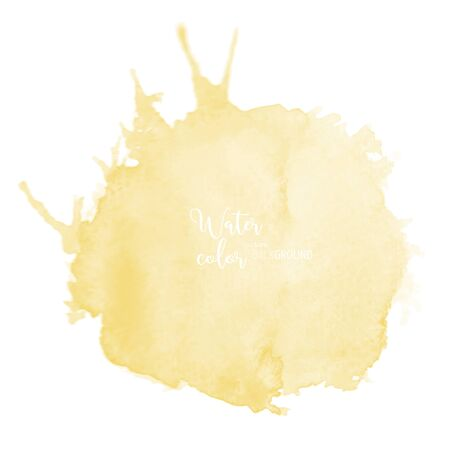Hand-painted background yellow watercolor texture, isolated on white background, Abstract artistic element used as being an element in the decorative design of invitation, cards, cover or banner.