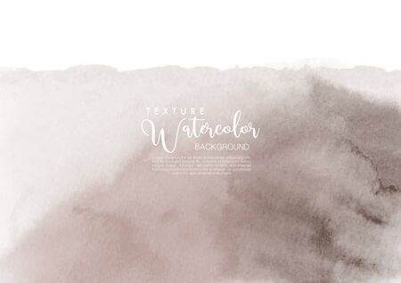 Hand-painted background chocolate stain watercolor texture, isolated on white background, Abstract artistic used as being an element in the decorative design of invitation, cards, cover or banner. Vetores