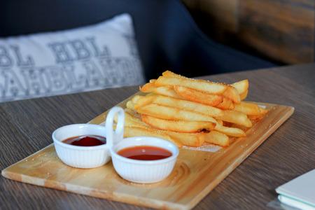 fried potatoes in coffee shop