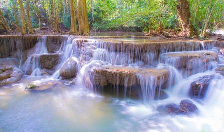 Beautiful waterfall, Huay Mae Ka Min waterfall in Thailand