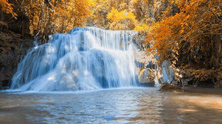 Waterfall beautiful in asia southeast asia Thailand photo