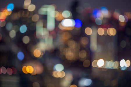 City light blur bokeh, defocused background photo