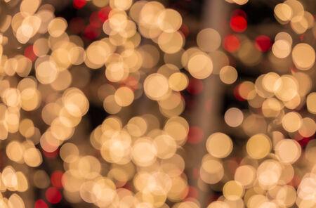 christmas illuminations: Abstract circular bokeh background of Christmas light