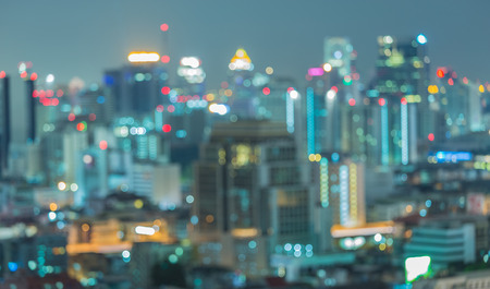 abstract city: Cityscape at twilight time, Blurred Photo bokeh Stock Photo