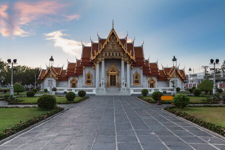 Wat Benchamabophit (Marble temple) in Bangkok, Thailand photo