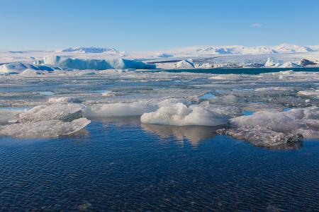 calving: Beauty Jokulsarlon lake iceberg lagoon Southeast of Iceland Stock Photo