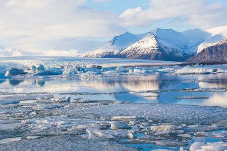 Schoonheid van Jokulsarlon lagune in IJsland