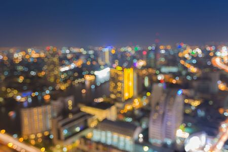 Abstract bokeh Bangkok city night light Stok Fotoğraf