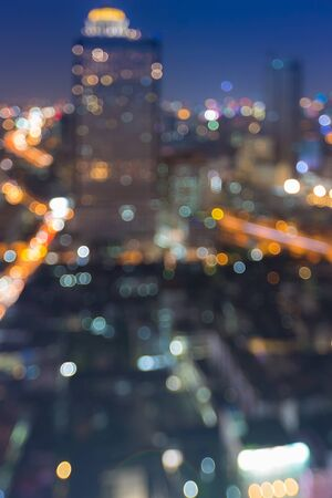 city light: Bokeh of modern city light