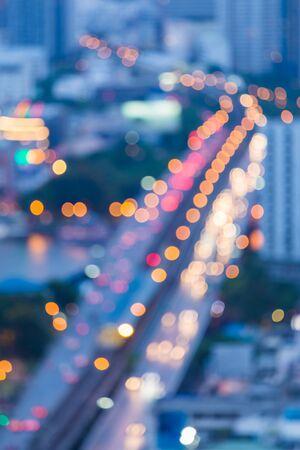 Abstract blur bokeh city bridge photo