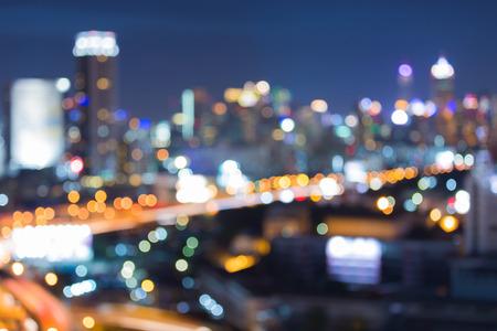 Cityscape skyline wazig abstracte achtergrond lichten