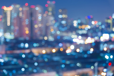 cityscape: Blurred abstract background lights beautiful bangkok cityscape view