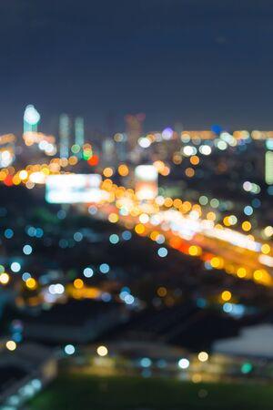 city road: City road blur bokeh lights at night