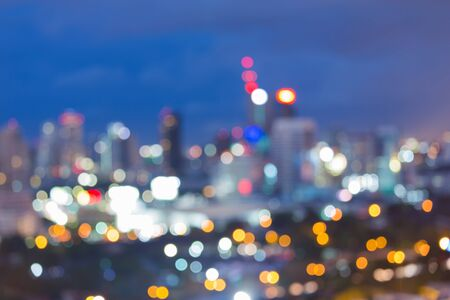city light: Twilight of blur city light abstract bokeh background