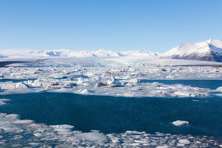 landscape rural: Jokulsarlon, Glacial lake, Iceland during winter