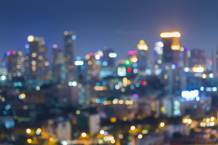 city light: City light at night, abstract blurred bokeh background