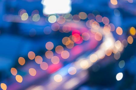 city road: City road curved light blur bokeh, defocused background