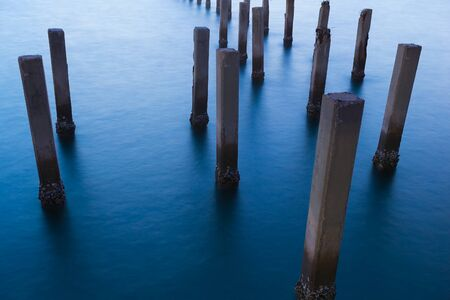 sandbank: Fence protect sandbank from sea wave, nature protection