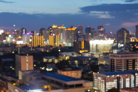 city light: Beauty of blurred city light during twilight Stock Photo