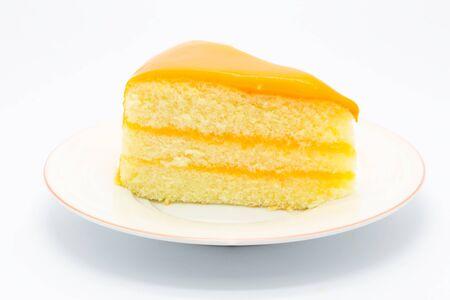 orange cake: Homemade Orange cake on white background