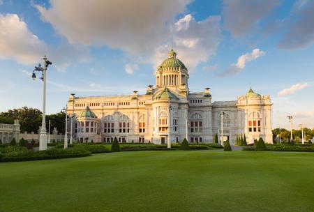 favorite colour: Thailand White house in Royal Dusit Palace, public museum, landmark of bangkok