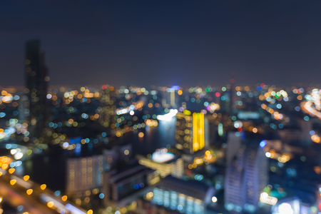 Stad licht nigh uitzicht, wazig bokeh achtergrond