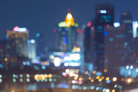 defocused: City blurred bokeh lights at night