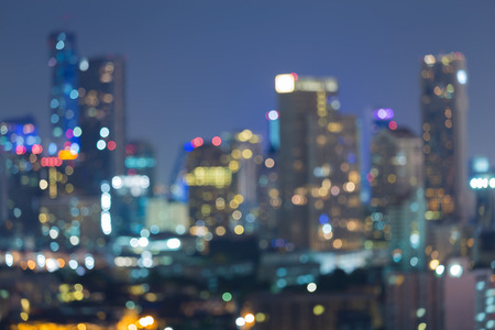 moscow city: Blurred bokeh background, city lights at night
