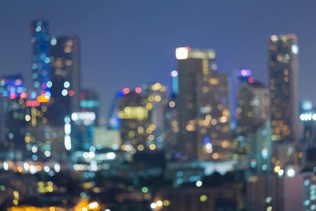 Wazig bokeh achtergrond, stad lichten 's nachts