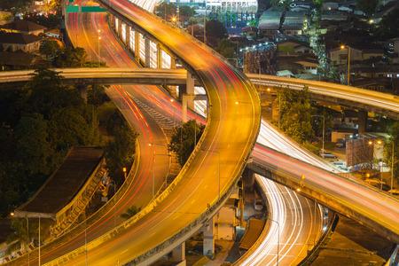 interchanged: Long exposure, Interchanged highway aerial view